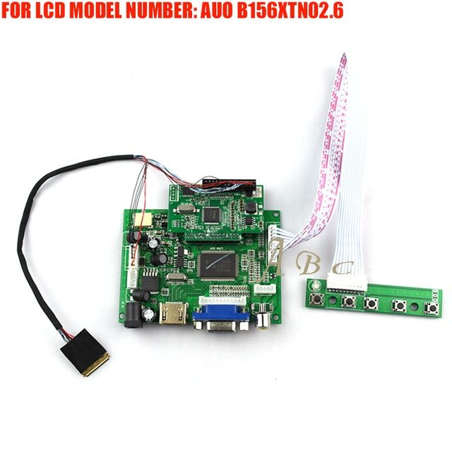 "EDP HDMI VGA 2AV LVDS Controller Board Module Kit DIY for AUO B156XTN02.6 15.6"" 1366X768 30P 1 Lane LED TFT LCD Display Panel"