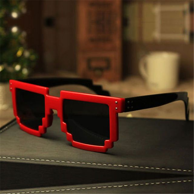 Deal with it Glasses Pixel Women Men Sunglasses Female Male Mosaic 8 bit Pixel Sun Glasses Men's Women's