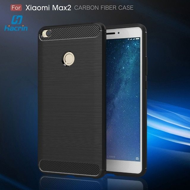 Xiaomi Mi MAX 2 Case TPU Brushed Carbon Fiber Silicon Shield Durable Drawing Shockproof Cover for Xiaomi Mi MAX 2 6.44""