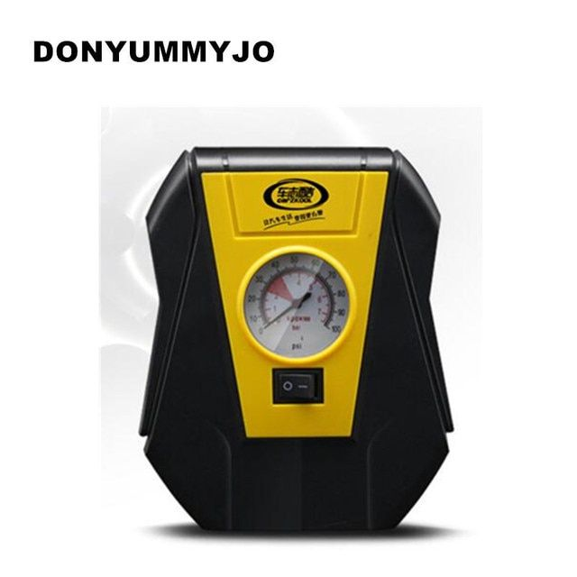 Portable Electric Car tire inflator pump 12V Car Air Compressor Pump LED Light Inflatable Pump for Outdoor Emergency