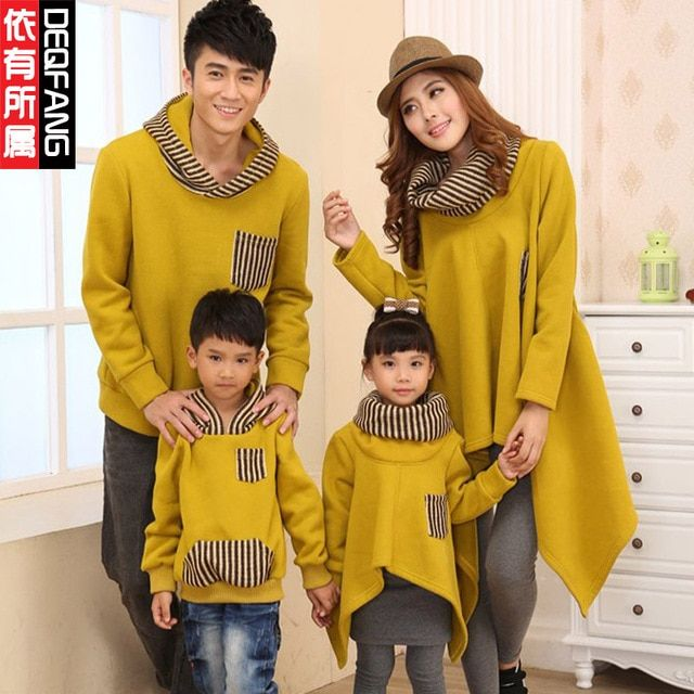 Matching Mother Daughter Clothes Family Look Father And Son Long Sleeve Hoodies Mommy and Me clothes Big Size XXXL Family Outfit