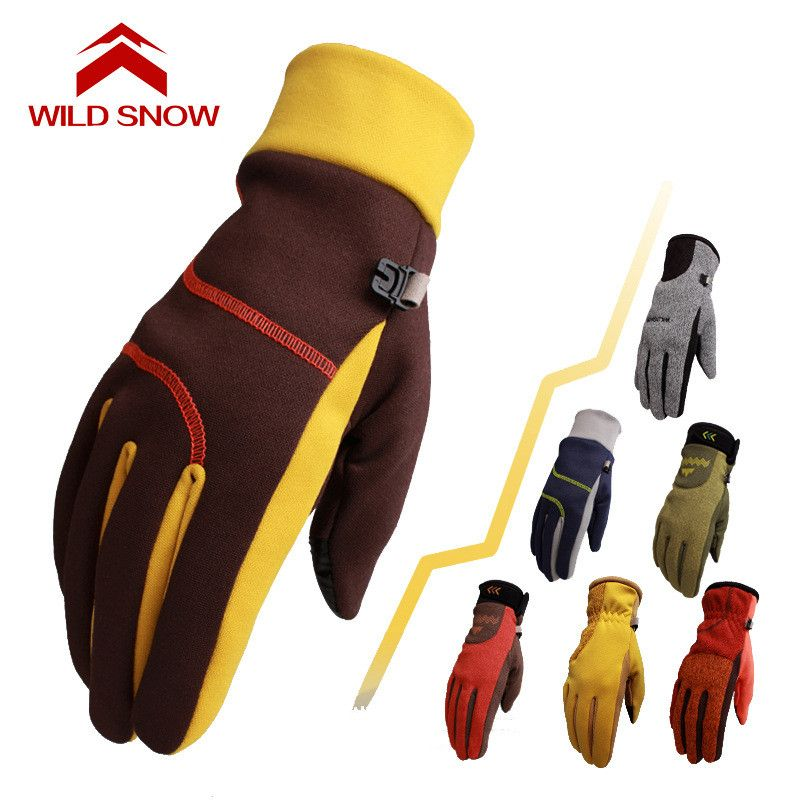 2018 new Korean Outdoor Snow Sport autumn and winter warm gloves men and women mountaineering Ski Mittens Snowboard Gloves