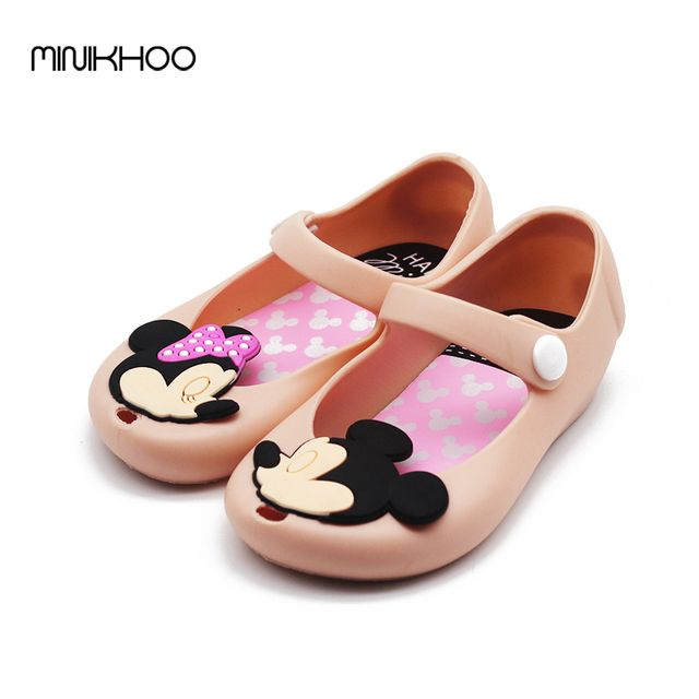 Mini Melissa Mickey & Minnie Shoes Kids Girls Sandals Crystal Jelly Shoes Melissa Child Cute Baby Girl Sandals 13-17cm Cheap