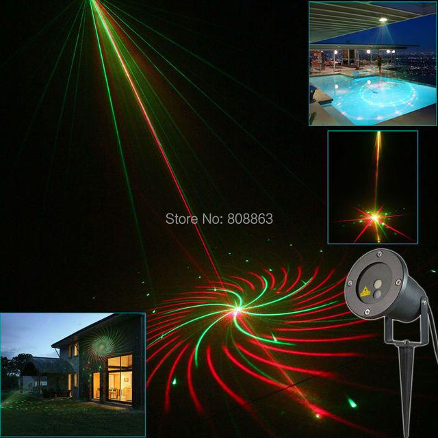 R&G Outdoor Waterproof Laser 12 Big Patterns Projector Holiday Party Landscape Disco Party Tree Garden Xmas Lighting Light T38