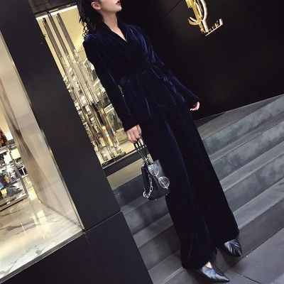 Two Piece Set Woman Clothing Crop Top + Long Pant 2 Sets Plus Size 7XL Autumn Winter Tracksuit 2017 Runaway Velvet Suits Women