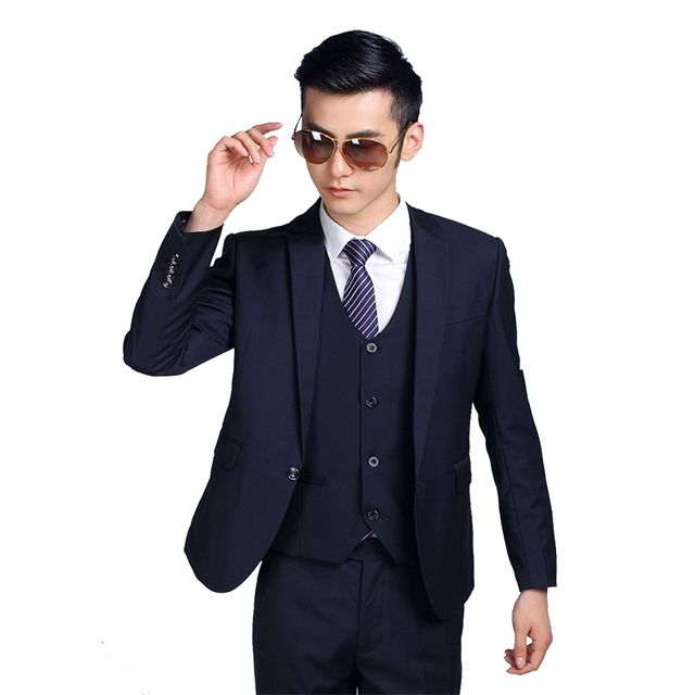 (Jackets+Pants+tie)  2017 New Arrival Men Suit Fashion Mens Slim Fit business wedding Suit men custom made Wedding TernoTuxedo