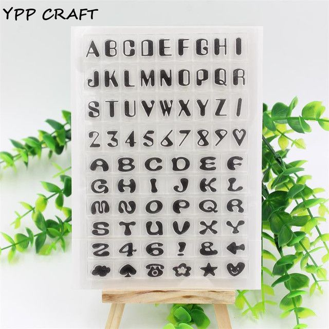 YPP CRAFT  Number and Letters Transparent Clear Rubber Stamp Seal Paper Craft Scrapbooking Decoration 927