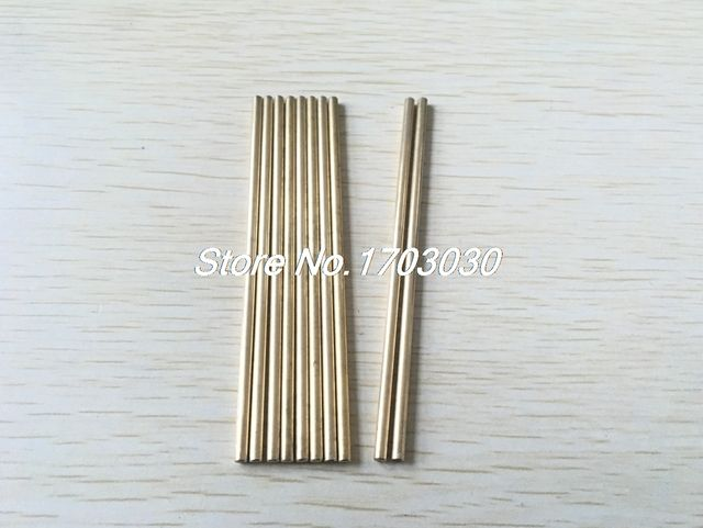 DIY RC Toy 3mm Dia 90mm Long Brass Solid Round Rod Bar Shaft 10Pcs