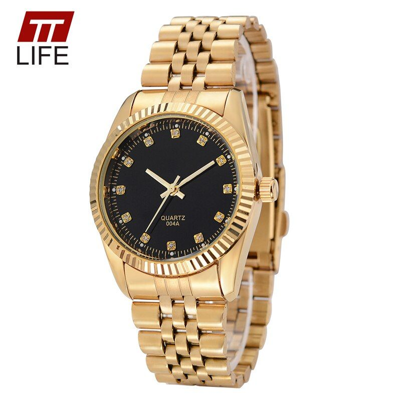 2016 TTLIFE watches men women fashion casual watch full steel watch business lover couple 30m waterproof watches women clock