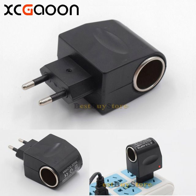 XCGaoon AC to DC Adapter Converter Car Charger input 90V - 240V Output 12V 500mA Europe Plug