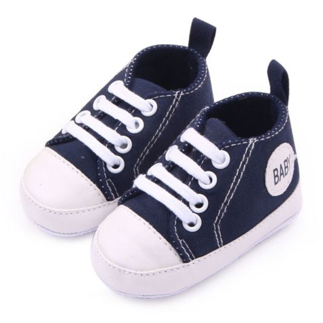 1 Pair Baby Boy Girls Toddler Canvas  Shoes Soft Sole Antislip Crib First Walkers HOT 12 Colors