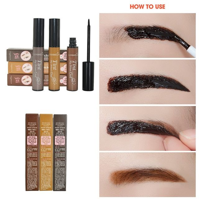 2017 New Eyebrow Gel + Eyebrow Stencil 3D Peel Off Eye Brow Enhancers Makeup Long-Lasting Natural Eye Tint Tattoo My Brows Gel