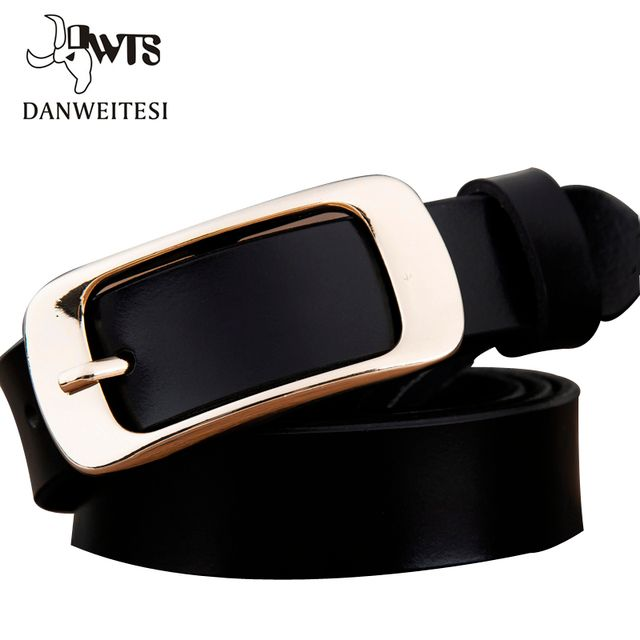 [DWTS] 2016 Women's Buckle belt female pure leather fashion jeans fine leather retro Ladies Belt leather belt women's strap belt