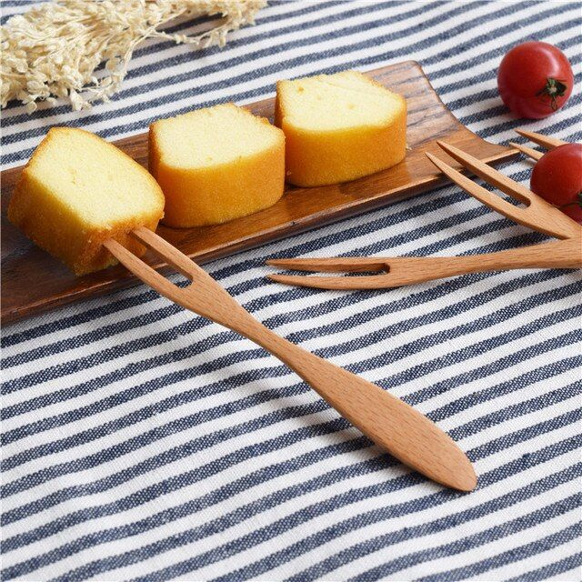 4 pcs/ salad fruit fork dessert cake teatime afternoon tea Kitchen Home party supplies