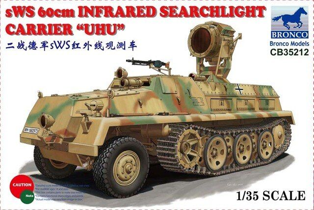 Bronco CB35212 1/35 WWII German sWS 60cm Infrared Searchlight Carrier UHU