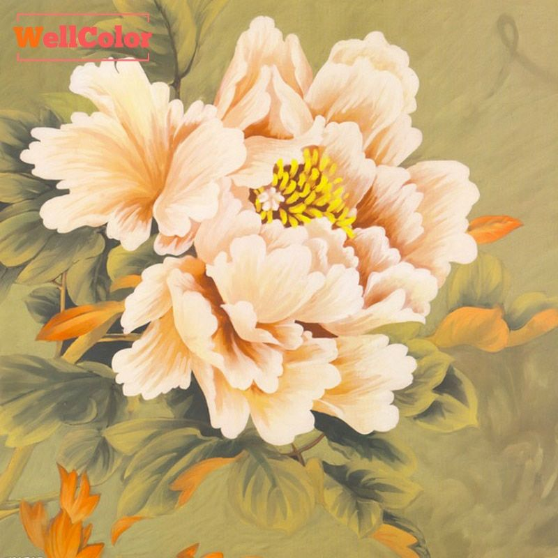 Wall Sticker,Flower, peony paintings,Diamond Embroidery,Cross Stitch,Round Drill,Mosaic Pattern,Craft,Hobby,5d Diamond Painting