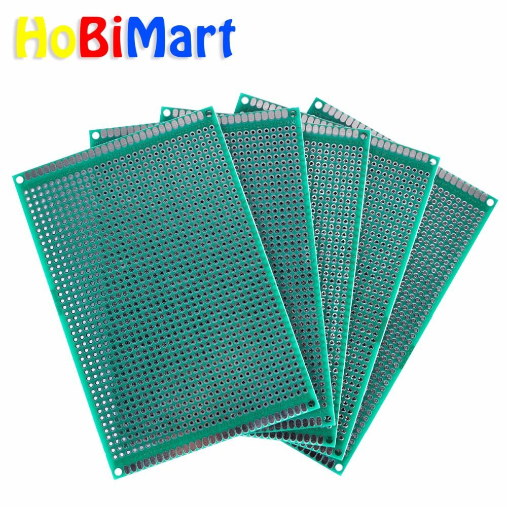 5pcs 8*12cm Prototype Breadboard Double Side Universal Printed Circuit Board pcb for Arduino 1.5mm 2.54mm Glass Fiber #nbp002