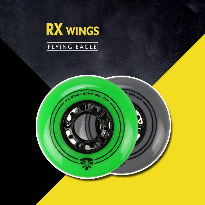 Original Flying Eagle Roller Skating Wheels RX WINGS 86A 88A Slalom Sliding Inline Skate Wheel For SEBA Powerslide