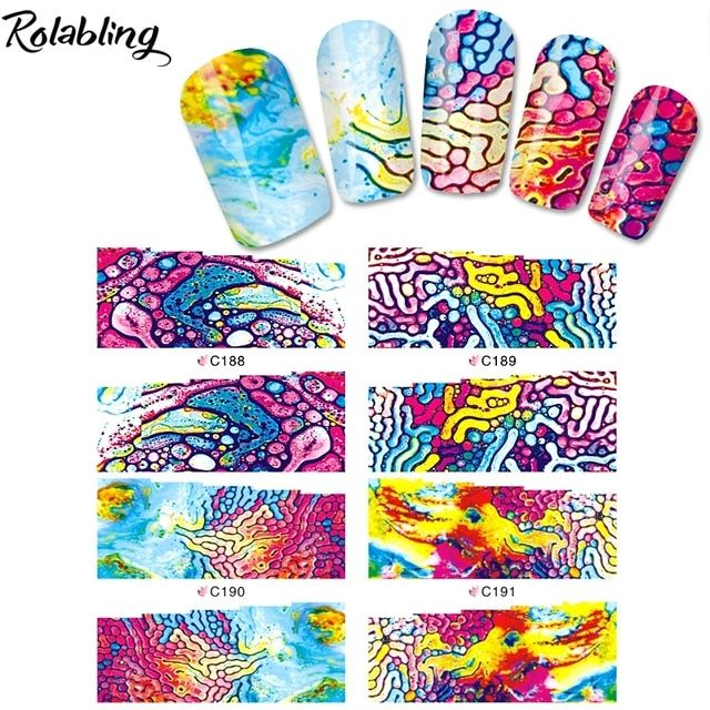 Hot Sale Artistic Atmosphere And Abstract Oil Painting Series Water Transfer Nail Sticker Water Transfer Printing Paper