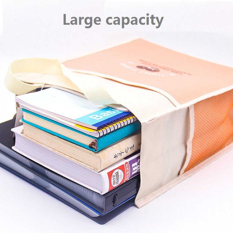 A4 Fabric Documents Folder Paper File Bag Zipper Document Organizer For Students School Stationery Deli 5997