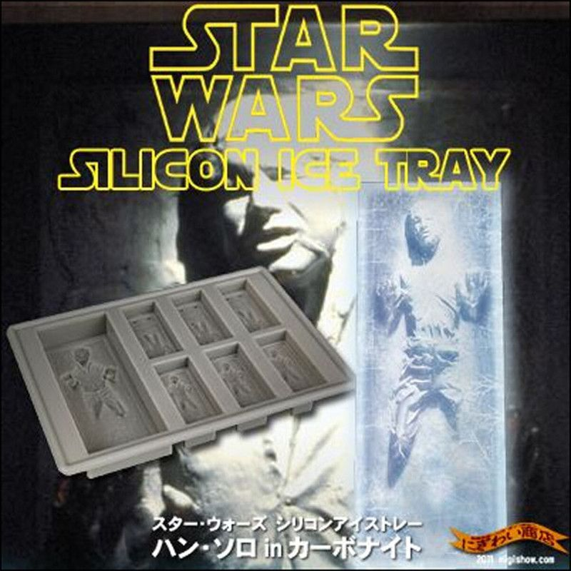 3D Death Star Wars Silicone Baking Mold Ice Cube Maker Kitchen Baking Tray Han Solo in Carbonite Cookie Chocolate Mould