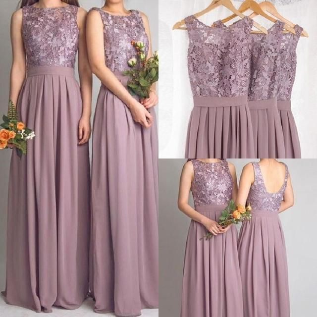 Cheap Lace Bridesmaid Dresses Long 2017 New Designer Chiffon Beach Garden Wedding Party Formal Junior Vestido Madrinha Under 100