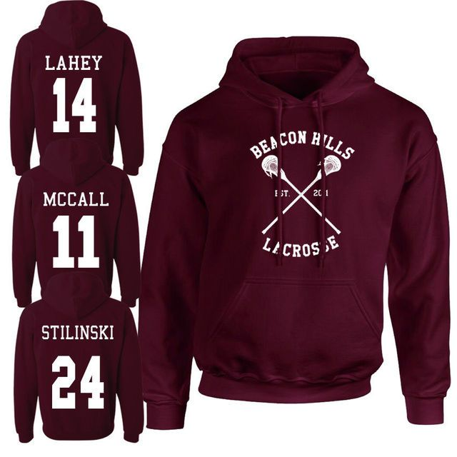Women Beacon Hills Lacrosse Logo Wolf Hoodie TeenWolf Stiles Stilinski Teen Hoody Gril Ladies Clothing Sweatshirt Plus Size