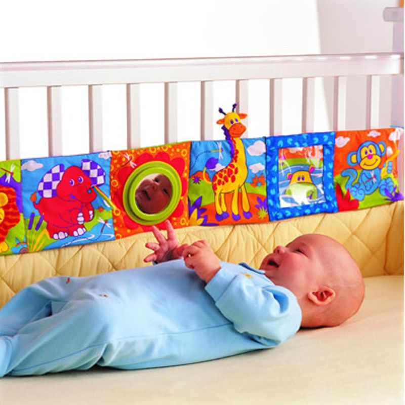 Baby Toys Infant Rattles Cloth Book Knowledge Around Multi-touch Multifunction Fun And Double Color Colorful Crib Bed Bumper