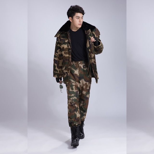 2016 winter waterproof 3xl security clothing sets turn-down collar long sleeves camouflage utility uniforms swx025