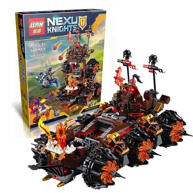 LEPIN 14018 8017 Nexus Knights Siege Machine Model building kits compatible with lego city 3D blocks Educational children toys