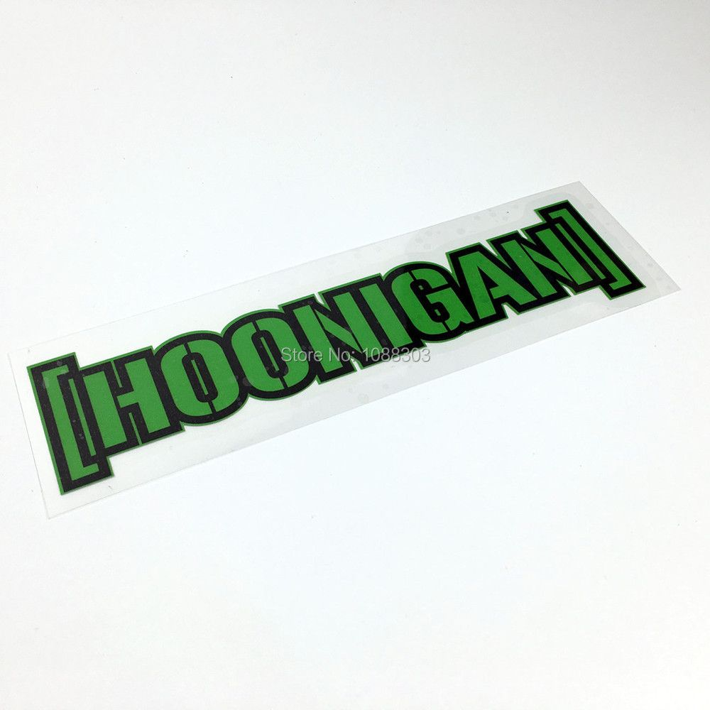 Car Styling Kenblock DC Hoonigan Green Car Sticker Decals Reflective