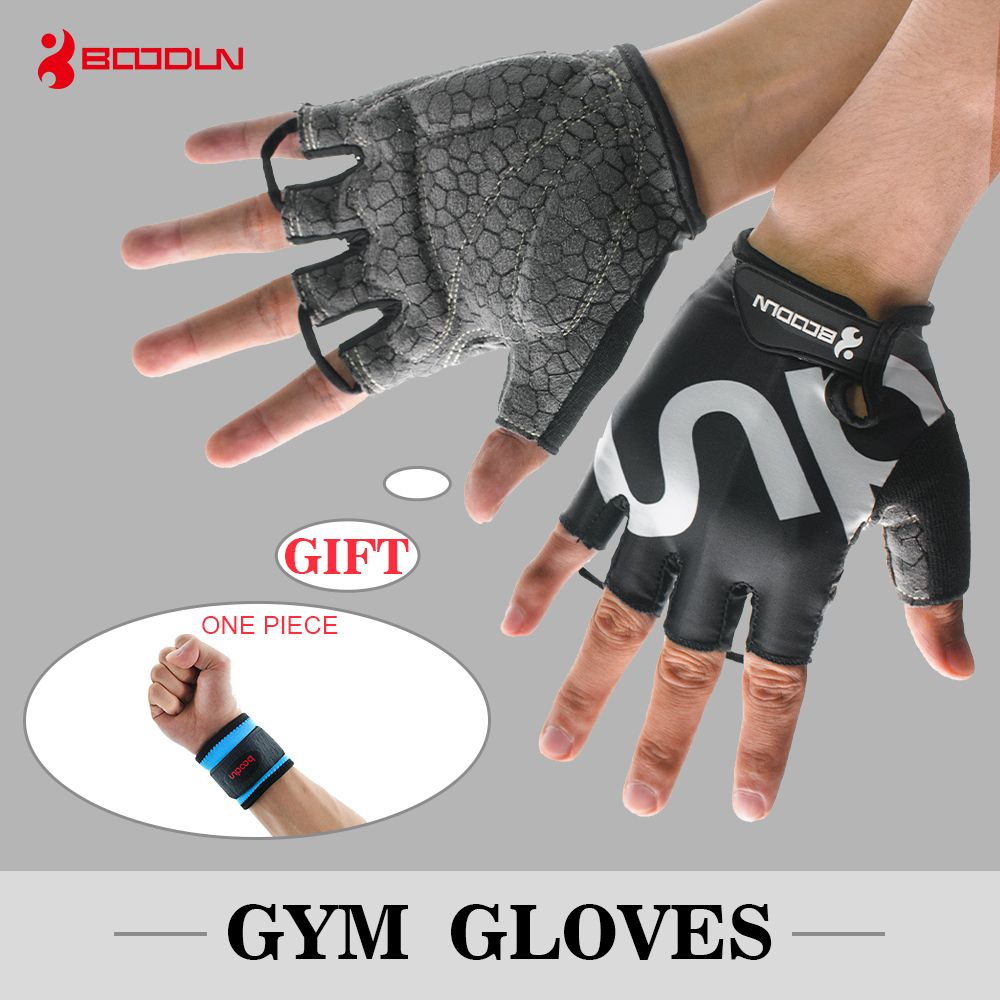 BOODUN Gym Women Men Anti-slip Breathable Dumbbells Weightlifting Half Finger Fitness Sport Fingerless Gloves Dropshipping