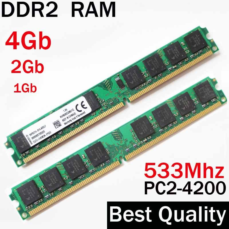 4Gb RAM ddr2 533 memory 533Mhz 2gb 1gb / For AMD for Intel desktop memoria ddr2 ram 1Gb / RAM 4G ddr 2  2 gb PC2 4200