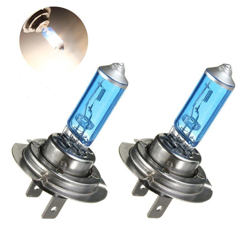 New 2pcs Car Auto H7 Front Headlight Light Bulb Lamps Car Styling Car Light Source Parking 55W White 6300K DC 12V