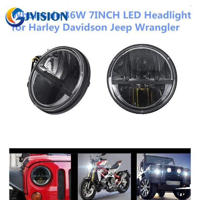 Car accessories 7 inch Round 36W Motorcycle headlight led Waterproof lights for Jeep Wrangler JK CJ Hummer