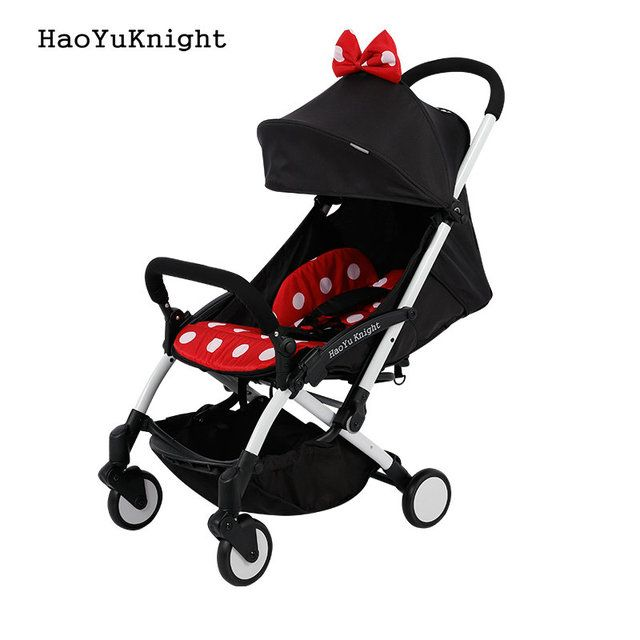 Hao YuKnight baby stroller Ultra-light folding carrier baby carriage shock absorbers stroller baby stroller minnie mickey