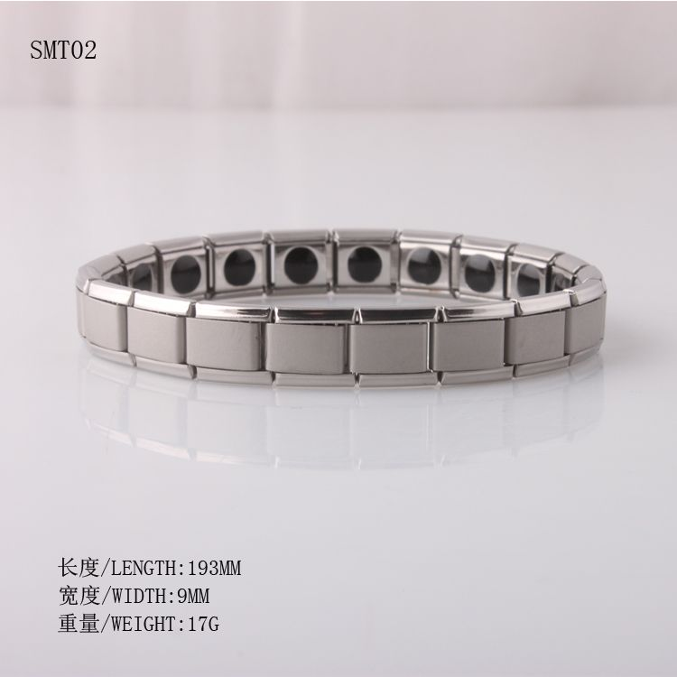 Free Shipping Women's Germanium Titanium Steel Bracelet 316L Power Bracelet Energe Bangle Friendship Sport Gift SMT02