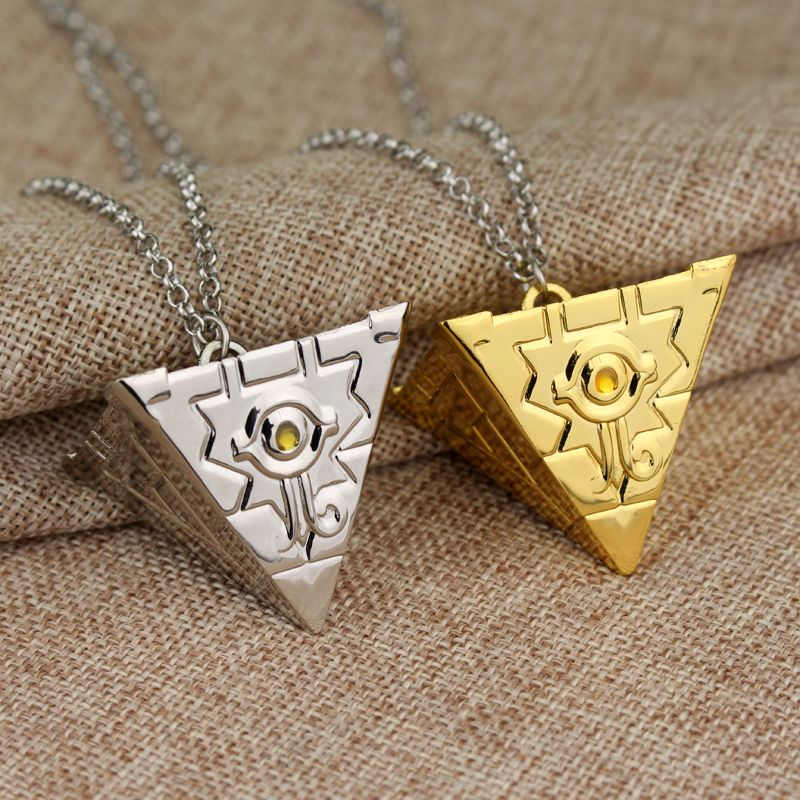 3D Jewelry Yu-Gi-Oh Necklace Anime Yugioh Millenium Pendant Toy Yu Gi Oh Cosplay Pyramid Egyptian Eye Of Horus Necklace Gift