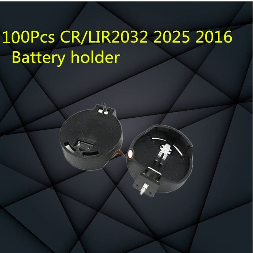 100Pcs CR/LIR2032 2025 2016 Battery Holder Batteries Button Cell Holder Socket Case