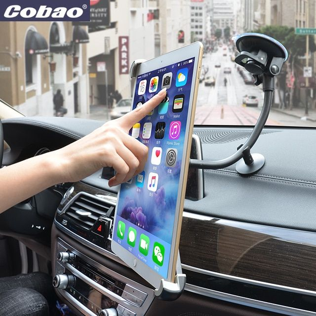 Universal 9.5 10 11 to 14.5 inch tablet pc stand stong suction tablet car holder for Ipad 2 3 4 ipad air 9.7 12.9 inch Ipad Pro