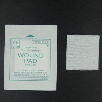 New 50 pcs/lot  gauze pad 100%  Cotton  first aid waterproof  wound dressing  sterile medical gauze  pad wound care supplies
