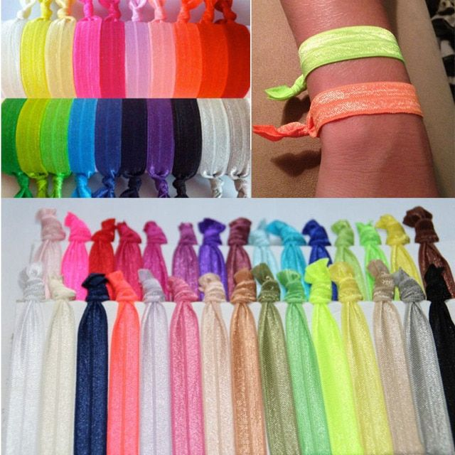 DHL free shipping Hair Bands 50 color mixing 1000pcs/lot Elastic Goody Ouchless Ribbon Girls Hair Accessorie Yoga Hair Ties