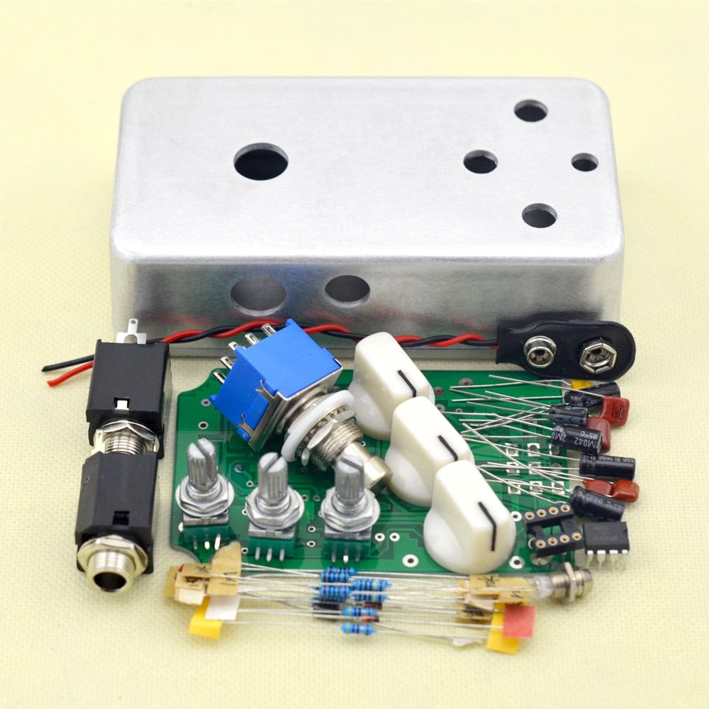 DIY Distortion Pedal  Stomp box kit True ByPass full Metal distortion pedal FREE SHIPPING