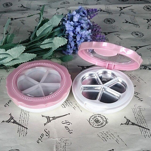 free shipping pink flower petal eye shadow/blusher/face cream packing box ( aluminum plate)