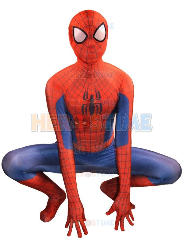 Ultimate Spider-Man Costume spandex lycra halloween Spiderman superhero costumes fullbody halloween cosplay suit free shipping