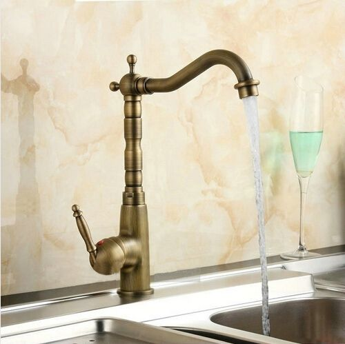 Kitchen Faucets Swivel Mixer Taps Antique Brass Hot and Cold Deck Mounted with ceramic torneiras para banheiro crane AF1031