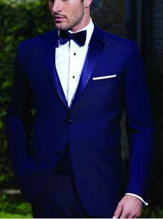 Handsome Men Suits Royal Blue Groomsmen Tuxedos Slim Fit Prom Party Suits Custom Made Bespoke Wedding Suits For Men(Jacket+Pant)