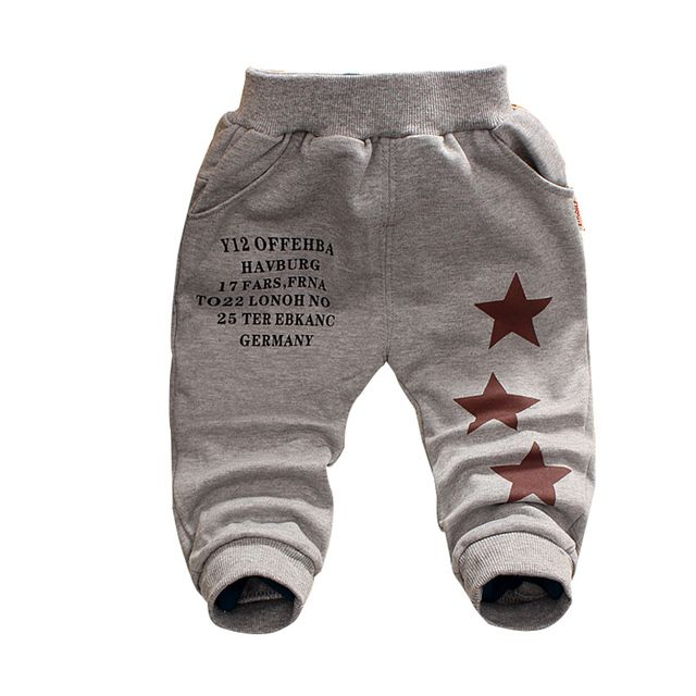 Free shipping 2015 New Spring&Autumn baby pants 1 piece Cotton Five-pointed star pattern kids pants 0-3 years baby boy pants