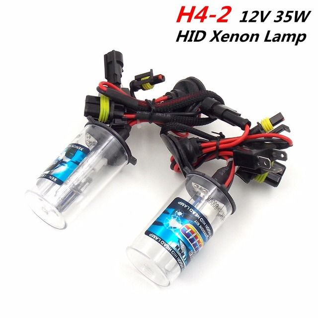 (1Pair) H4-2 12V 35W Dual Beam HID Xenon/Halogen Lamps Headlight Bulbs Car External Lights (4300K 6000K 8000K 10000K Choose)