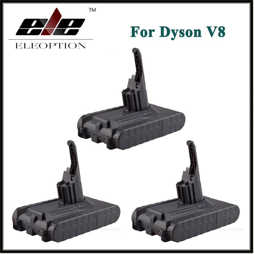 3x Eleoption Neweat 21.6V 2800mAh /  60.48Wh Li-ion Rechargeable Battery Pack For Dyson V8 Series Vacuum Cleaner